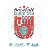 Emblem baseball campus team Royalty Free Stock Images