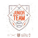 Emblem baseball junior college team Royalty Free Stock Images