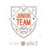 Emblem baseball junior college team Royalty Free Stock Images