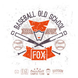 Emblem baseball old school Royalty Free Stock Photo