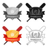Emblem. Baseball single icon in cartoon style vector symbol stock illustration web. Royalty Free Stock Images