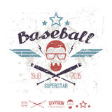 Emblem baseball superstar college team Stock Image