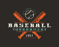 Emblem of baseball tournament. Graphic design for t-shirt Stock Photography