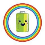 Emblem for battery recycling vector illustration