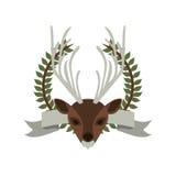 Emblem bear hunter city icon. Illustration image Stock Photo