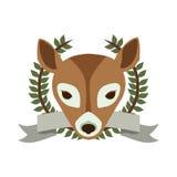 Emblem bear hunter city icon. Illustration image Royalty Free Stock Photo