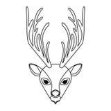 Emblem bear hunter city icon. Illustration image Stock Image