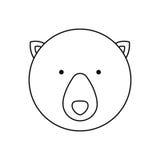 Emblem bear hunter city icon. Illustration image Royalty Free Stock Image