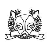 Emblem bear hunter city icon. Illustration image Stock Photos