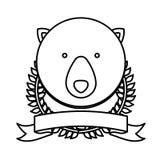 Emblem bear hunter city icon. Illustration image Stock Photography