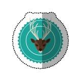 Emblem bear hunter city icon. Illustration image Stock Images