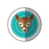 Emblem bear hunter city icon. Illustration image Royalty Free Stock Photos