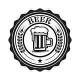 Emblem with beer mug. Design element for logo, label, emblem, sign. Royalty Free Stock Photos