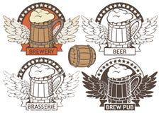 Emblem beer Stock Photos