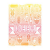 Emblem of beer and snacks. Royalty Free Stock Image