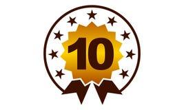 Emblem Best Quality Number 10. Logo Design Template Vector Stock Image