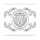 Emblem Of a Blacksmith Royalty Free Stock Photos