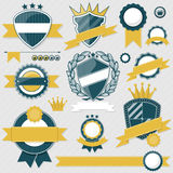 Emblem blank labels vector Stock Photography