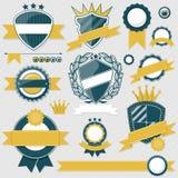 Emblem blank labels vector Stock Photography