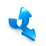 Emblem of blue arrows Stock Images