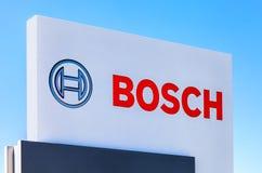 Emblem Bosch against the blue sky Royalty Free Stock Photos