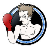 Emblem of boxer Stock Photos