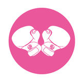 Emblem boxing gloves icon design Royalty Free Stock Photo