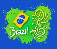 Emblem brazil Royalty Free Stock Photography