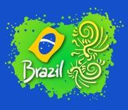 Emblem brazil. Creative design of emblem brazil Royalty Free Stock Photography