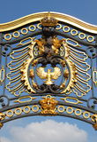 Emblem in Buckingham Palace stock image