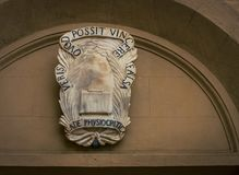 Emblem on a building in Siena. Italy Royalty Free Stock Photography