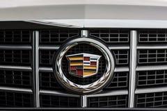 Emblem of Cadillac company on car at daytime Stock Photos