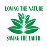 Emblem calling for environmental protection vector illustration