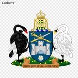 Emblem of Canberra. City of Australia. Vector illustration vector illustration