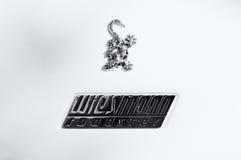 The emblem of the car Weismann Roadster Stock Photos