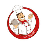 Emblem of cartoon Chef Royalty Free Stock Image