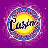 Emblem of casino Stock Photography