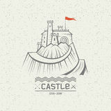 Emblem castle on a mountain Stock Image