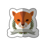 Emblem cat hunter city icon. Illustration image Royalty Free Stock Photos