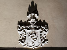 Emblem catedral. Catedral emblem in night Royalty Free Stock Photos