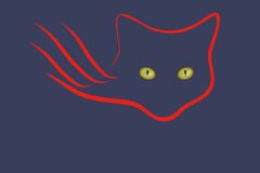 The emblem of the cats in the dark Stock Photo