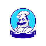 Emblem with chef Royalty Free Stock Images
