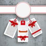 Emblem Christmas Price Stickers Concrete Royalty Free Stock Image