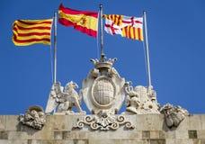 Emblem of the city of Barcelona Spain Stock Photos