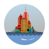 Emblem of the city royalty free illustration