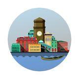 Emblem of the city Stock Photography