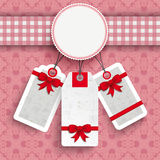 Emblem Cloth Valentinesday Price Stickers Ornaments PiAd Royalty Free Stock Image