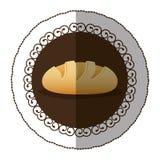 Emblem color nomal bread icon. Illustraction design image Stock Images