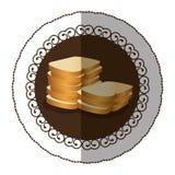 Emblem color white bread icon Stock Photos