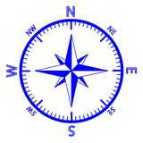The emblem of the compass rose. Royalty Free Stock Photography